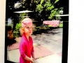 Acrylic Print: Little Girl in Pink