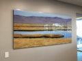 Mauve landscape on Acrylic panel