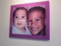 Acrylic Print: Brothers with Mauve Boarder