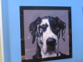 Acrylic Black & White Print: Black & White Dog