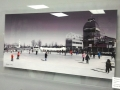 Acrylic Print Black & White: Skating Rink & Skaters