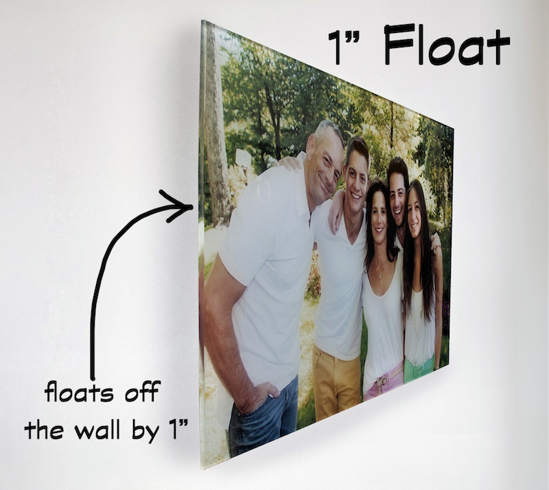 acrylic print that floats off wall