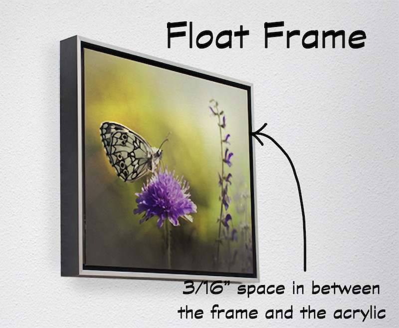 acrylic-float-frame