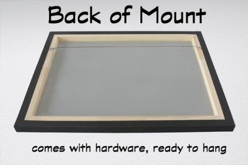 metal back of mount