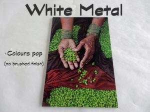 White metal no brushed