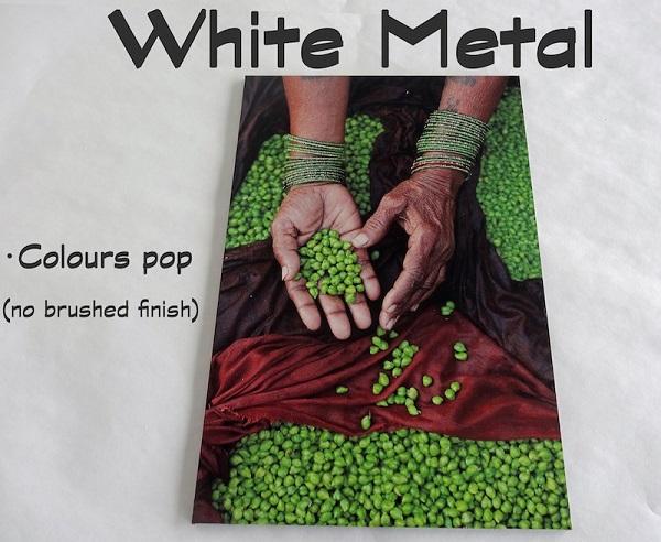 aluminum prints on white metal make colors pop
