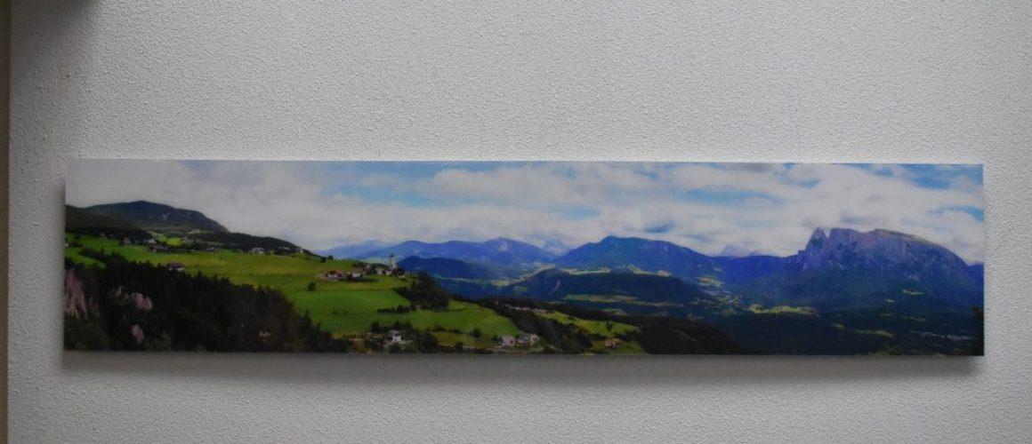 a print panoramic photo on acrylic