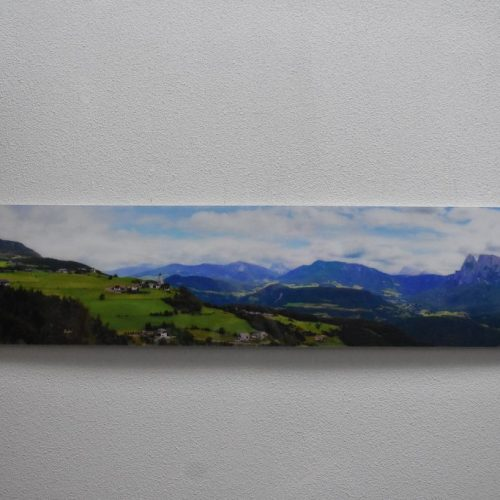 a print panoramic photo on acrylic