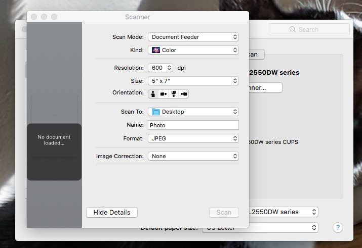 The settings necessary for how to convert print photos to digital files.
