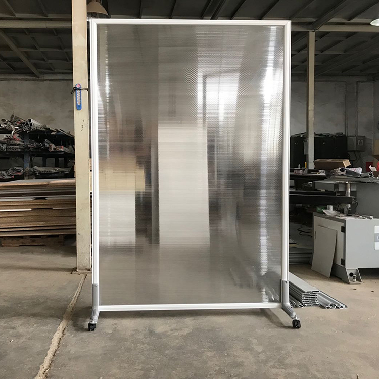 acrylic sneeze guards can be used as a panel room divider.