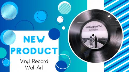 banner announcing the vinyl record wall art