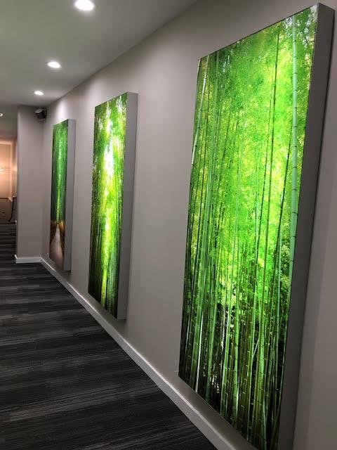 fabric backlit wall art