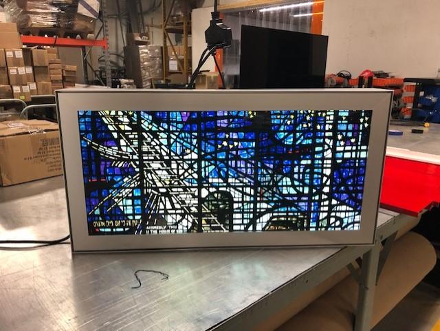 acrylic backlit wall art