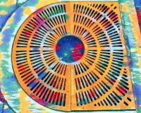 Abstract Acrylic Art Print: Circular Rainbow