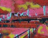 Abstract Acrylic Art Print: Canal