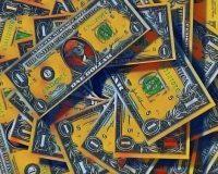 Abstract Acrylic Art Print: Blood Money