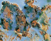 Abstract Acrylic Art Print: Blueville
