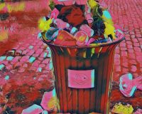 Abstract Acrylic Art Print: Bouquet of Garbage