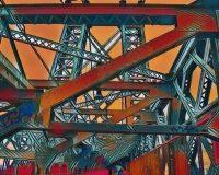 Abstract Acrylic Art Print: Bridge Power