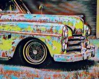 Abstract Acrylic Art Print: Cool Wheels