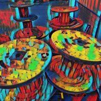 Abstract Acrylic Art Print: Spool