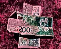 Abstract Acrylic Art Print: Comic Cash