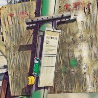 Abstract Acrylic Art Print: Ruperts Board