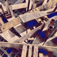 Abstract Acrylic Art Print: Total Trades