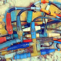 Abstract Acrylic Art Print: Wire Me